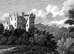 Castle Huntly: 1831 steelplate engraving by H Adlard, 1831, after a painting by John Preston Neale