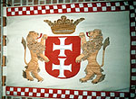 Ship's banner, 17th cent, with Danzig coat of arms